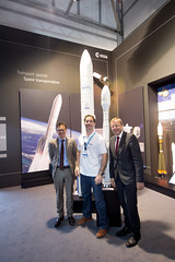 Stephan Israel with Thomas Pesquet and Jan Woerner at the ESA Pavilion