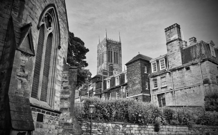 Lincoln Cathedral from St Michael on the Mount