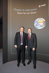 Jan Woerner and Igor Komarov at the ESA Pavilion