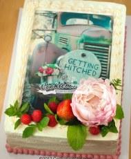 Bridal shower photo Cake
