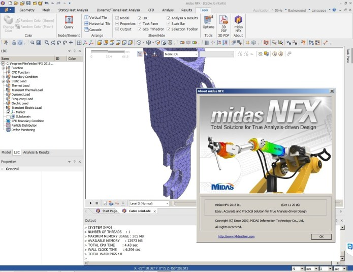 working with MIDAS NFX 2016 R1 build 20161018 x32 x64 full crack
