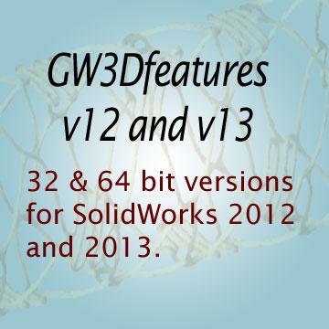 GeometryWorks 3D Features V12-V13 for SolidWorks 2012-2013