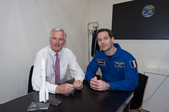 Michel Bernard Barnier meets Thomas Pesquet