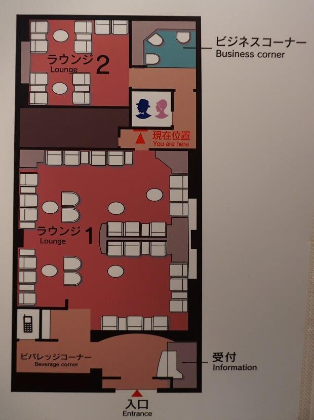 170702 鹿児島空港サクララウンジ全体図