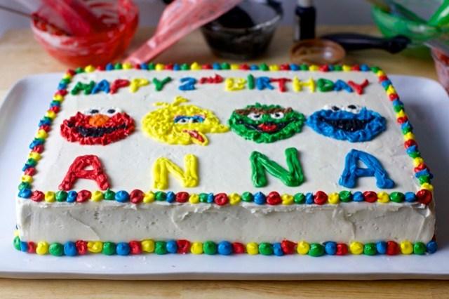 confetti sheet cake, muppet-style