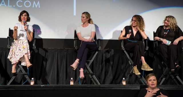 Alison Brie, Betty Gilpin, Liz Flahive and Jennifer Euston