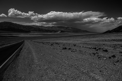 rising sandstorm over death valley