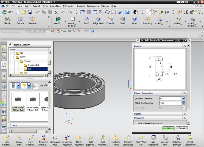 Siemens NX 6.0 Standard Parts Library