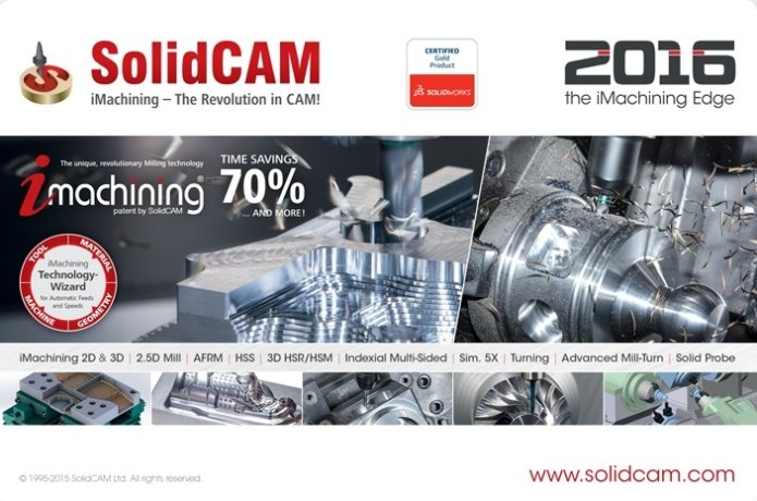 SolidCAM 2016 SP2 HF3 Multilang for SolidWorks 2012-2017 64bit