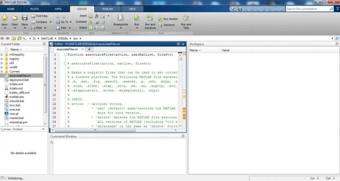 working with Mathworks Matlab R2016b