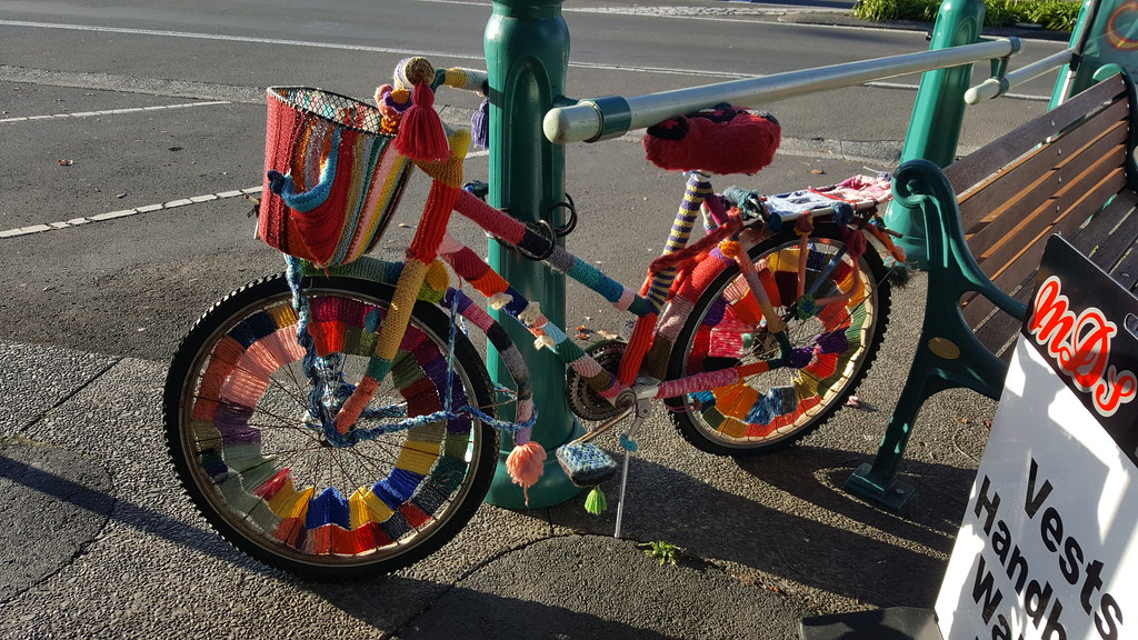 YarnBombed Bicycle