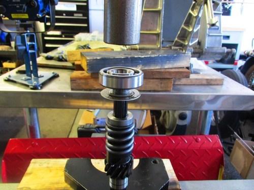 Ready to Press Input Shaft Rear Ball Bearing Onto Shaft