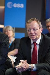 Jan Woerner during the 'Space 4.0ur future: ESA in motion' press conference
