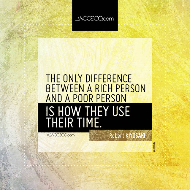 The only difference between a rich person and a poor person by WOCADO.com