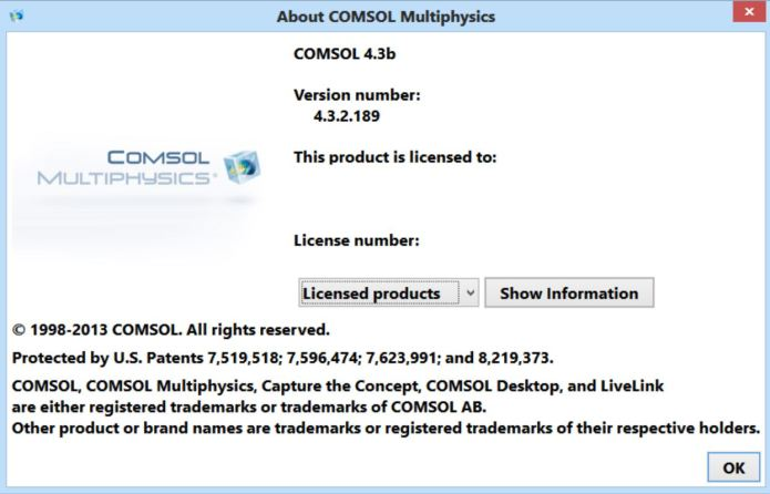 Comsol Multiphysics 4.3b with Update1