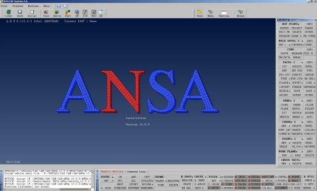 Working with BETA CAE ANSA 13.0.5 x86 full
