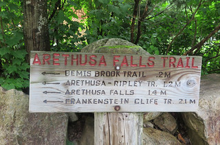 Arethusa Falls Trail Sign