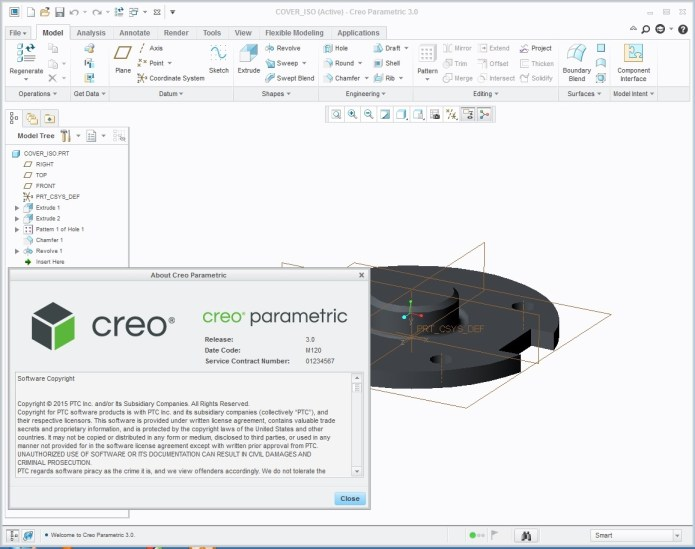 PTC Creo 3.0 M120 parametric full crack