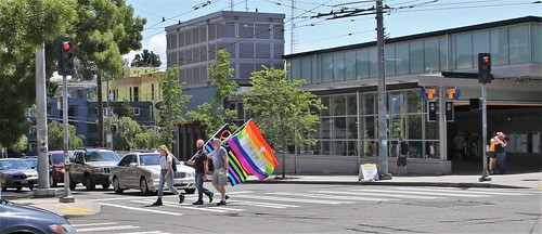 We thought there was an Equality March on Broadway in Seattle today, but this was all we saw.