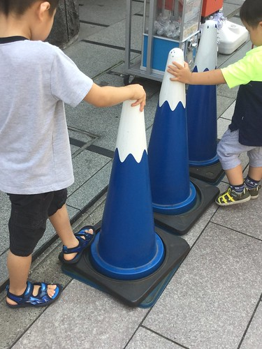 Mt. Fuji traffic cones