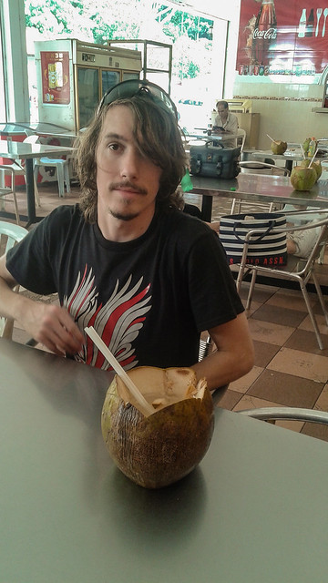 Kyle with Coconut