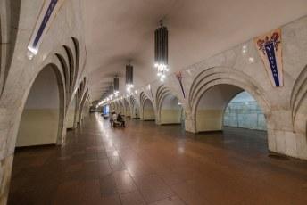 Daarna nog even een ritje met de door de Russen gebouwde metro.