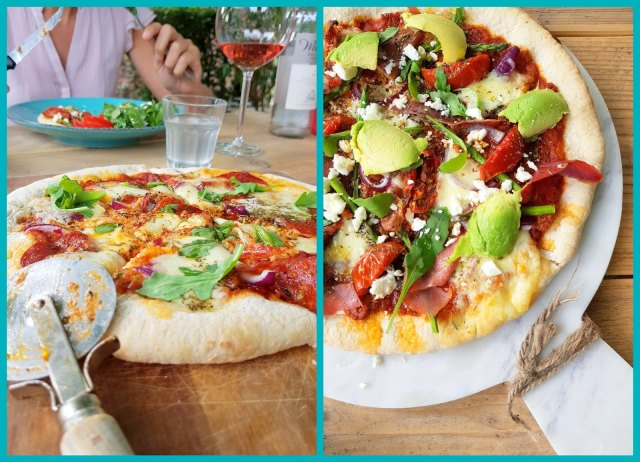 pizza al fresco (collage)