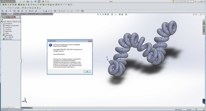 Design with GeometryWorks 3D Features V15.0.14 for SolidWorks 2015 full license
