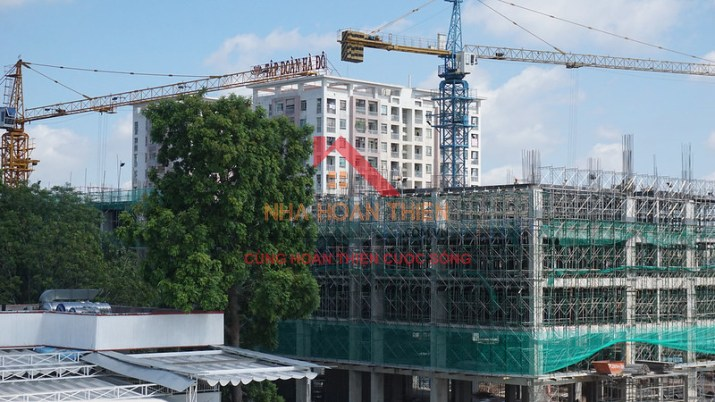Hình ảnh thực tế khu căn hộ Cityland Park Hills – Gò Vấp đang được thi công phần móng.