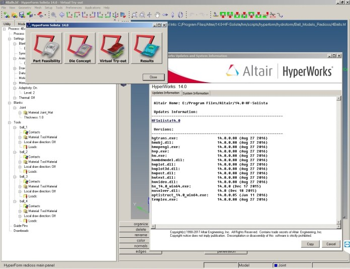 working with Altair HyperForm Solista 14.0 x64