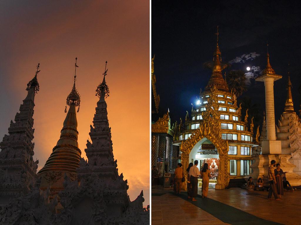 swhedagon pagoden i Yangon