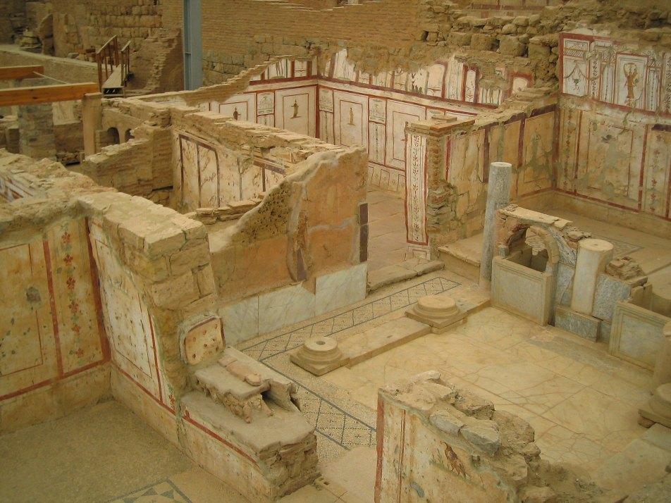 Inside the terrace houses of Ephesus