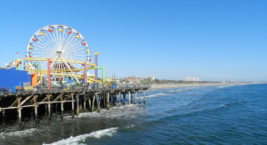 playa Muelle de Santa Monica California EE UU 03