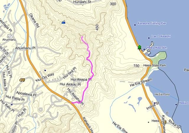 Bunker Trail Topo Map