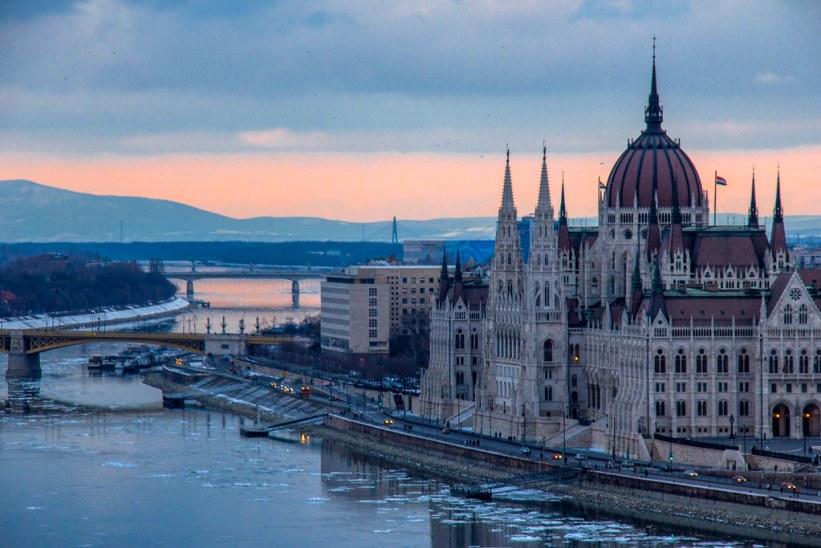 Solnedgang i Budapest