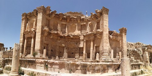 วิวของ Nympheum ที่ Jerash