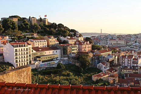 Vue sur le castello Sao Jorgé