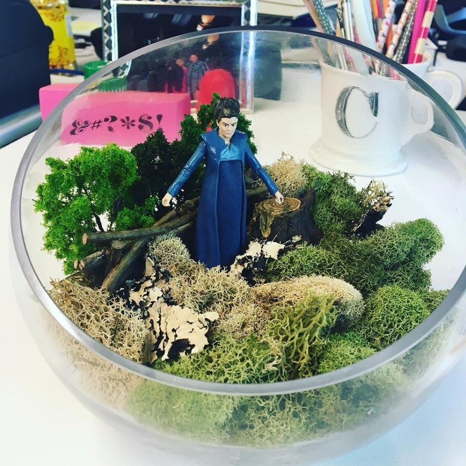 Today's my 2 Year Anniversary at @three29media and @laurie_moses made a Star Wars terrarium featuring General Leia (RIP).