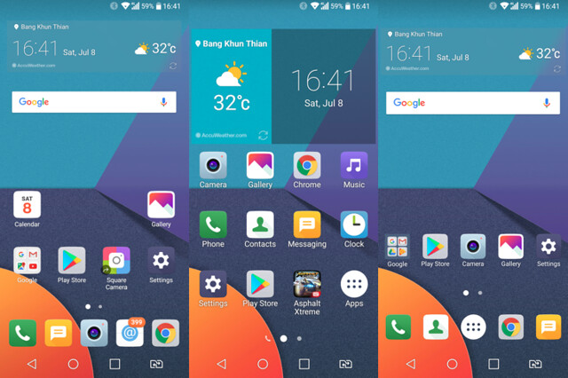 User Interface ของ LG G6