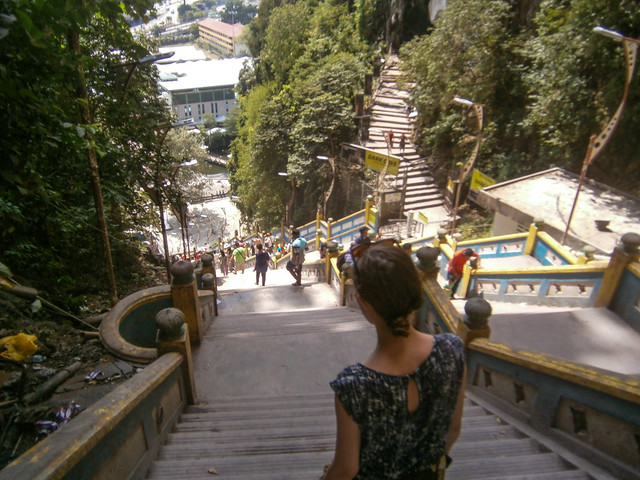 Briana Descending Stairs