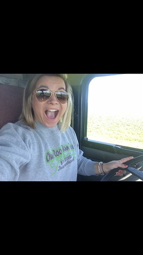 Could have been a cheerleader back in high school but, decided to be a truck driver instead.