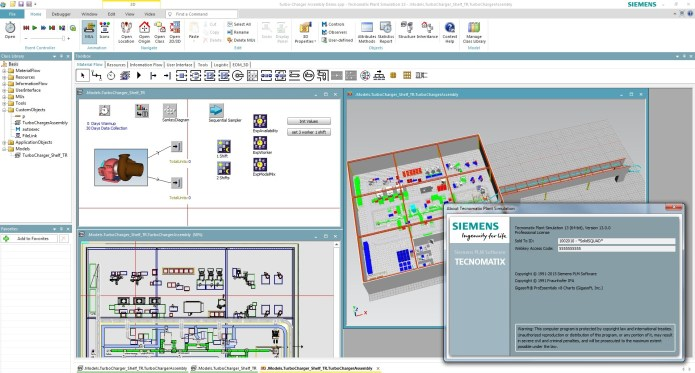 Working with Siemens Tecnomatix Plant Simulation 13.0 Win64