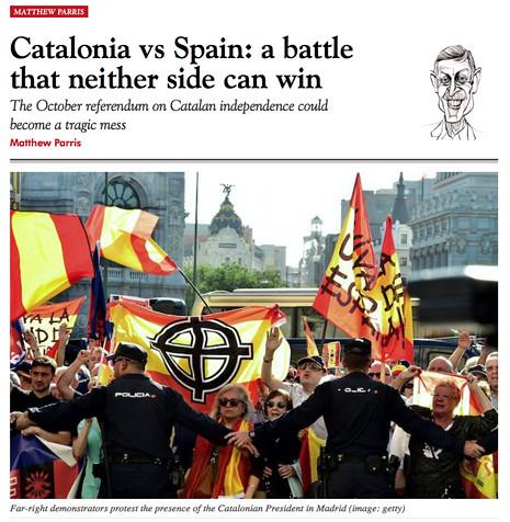 17g10 Spectator Cataluña España Confusión trágica que nadie puede ganar