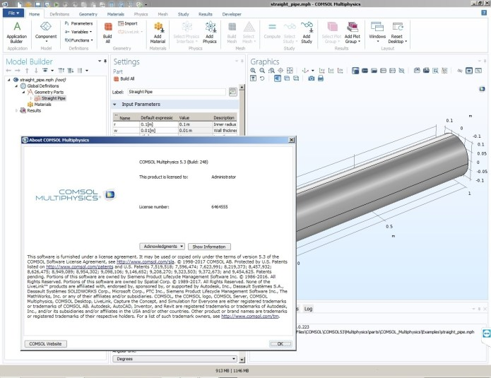 Working with Comsol Multiphysics 5.3 Build 248 full license
