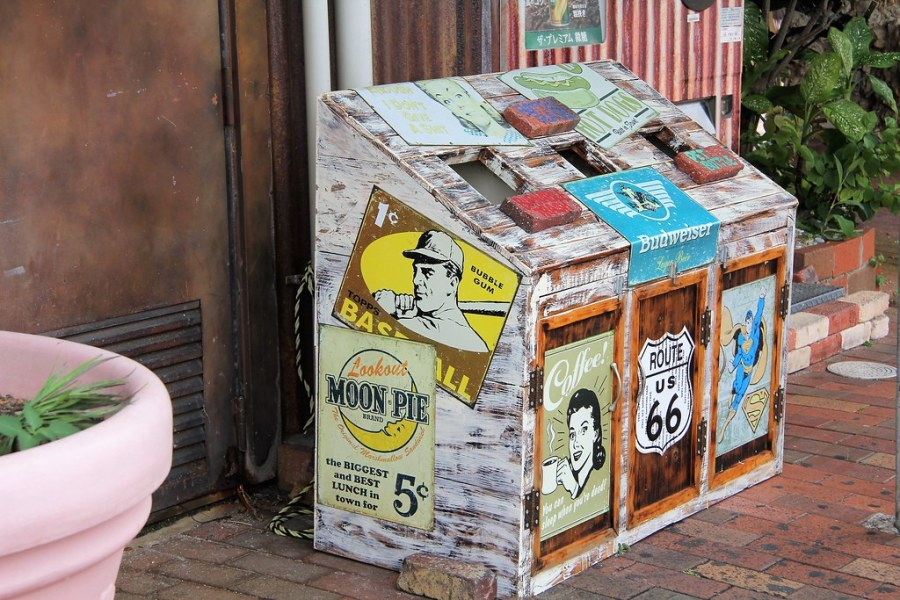 poubelle okinawa american village