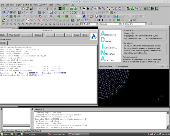 Working with ADINA System 9.3.2 Win-Linux x64 full license