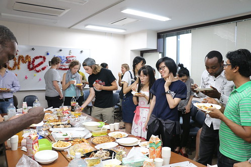 Celebration with international students at Tsukuba University