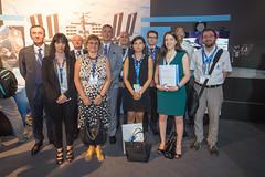 Promotheus team at the ESA Pavilion