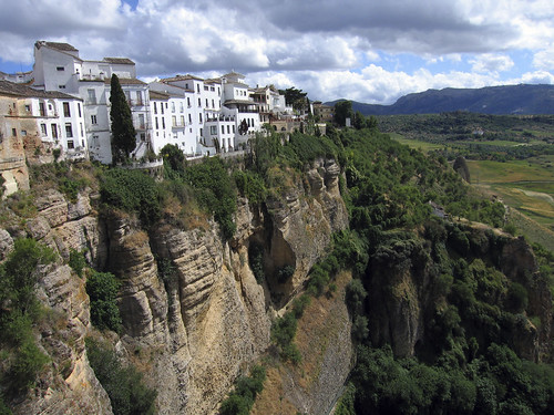 Cliff face in Ronda, Spain (photo credit - On Foot Holidays).