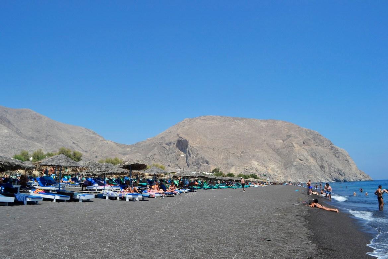 · Playa de Perissa, Santorini ·